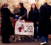 Food Not Bombs serving in Tompkins Square Park